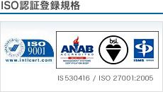 ISO認証登録規格